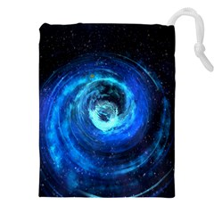 Blue Black Hole Galaxy Drawstring Pouches (xxl) by Mariart