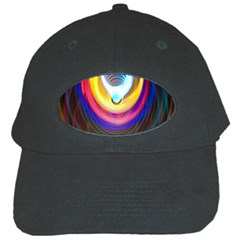 Colorful Glow Hole Space Rainbow Black Cap by Mariart
