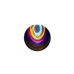 Colorful Glow Hole Space Rainbow 1  Mini Buttons by Mariart
