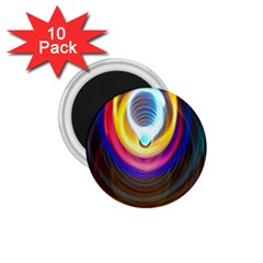Colorful Glow Hole Space Rainbow 1 75  Magnets (10 Pack)