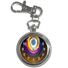 Colorful Glow Hole Space Rainbow Key Chain Watches by Mariart