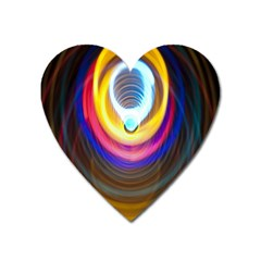 Colorful Glow Hole Space Rainbow Heart Magnet by Mariart