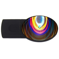 Colorful Glow Hole Space Rainbow Usb Flash Drive Oval (4 Gb)