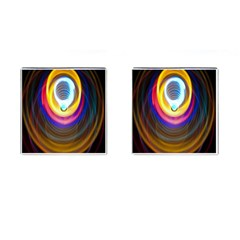Colorful Glow Hole Space Rainbow Cufflinks (square) by Mariart