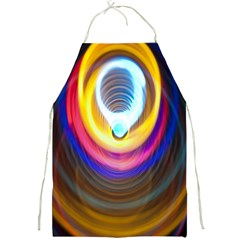 Colorful Glow Hole Space Rainbow Full Print Aprons by Mariart