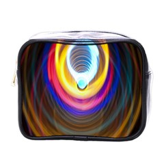Colorful Glow Hole Space Rainbow Mini Toiletries Bags by Mariart
