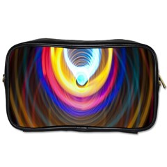 Colorful Glow Hole Space Rainbow Toiletries Bags 2 Side by Mariart