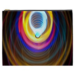 Colorful Glow Hole Space Rainbow Cosmetic Bag (xxxl)  by Mariart