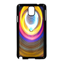Colorful Glow Hole Space Rainbow Samsung Galaxy Note 3 Neo Hardshell Case (black) by Mariart