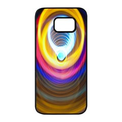 Colorful Glow Hole Space Rainbow Samsung Galaxy S7 Edge Black Seamless Case