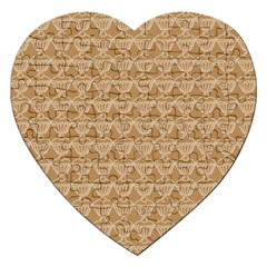 Cake Brown Sweet Jigsaw Puzzle (heart) by Mariart