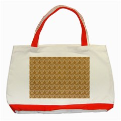 Cake Brown Sweet Classic Tote Bag (red) by Mariart