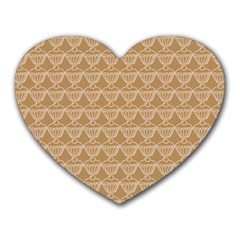 Cake Brown Sweet Heart Mousepads by Mariart