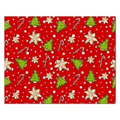 Ginger Cookies Christmas Pattern Rectangular Jigsaw Puzzl by Valentinaart
