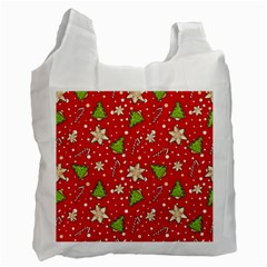 Ginger Cookies Christmas Pattern Recycle Bag (two Side)  by Valentinaart