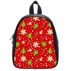 Ginger Cookies Christmas Pattern School Bag (small) by Valentinaart