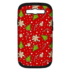 Ginger Cookies Christmas Pattern Samsung Galaxy S Iii Hardshell Case (pc+silicone)