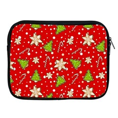 Ginger Cookies Christmas Pattern Apple Ipad 2/3/4 Zipper Cases by Valentinaart