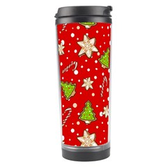 Ginger Cookies Christmas Pattern Travel Tumbler by Valentinaart