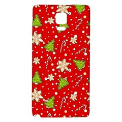 Ginger Cookies Christmas Pattern Galaxy Note 4 Back Case