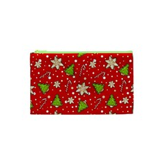 Ginger Cookies Christmas Pattern Cosmetic Bag (xs) by Valentinaart