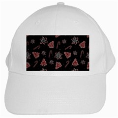 Ginger Cookies Christmas Pattern White Cap
