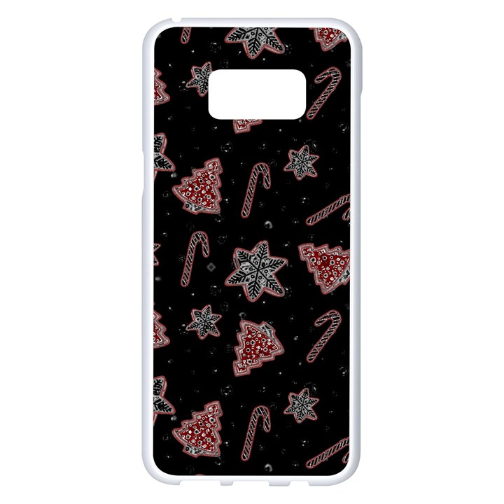 Ginger cookies Christmas pattern Samsung Galaxy S8 Plus White Seamless Case