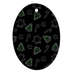 Ginger Cookies Christmas Pattern Ornament (oval) by Valentinaart