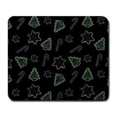 Ginger Cookies Christmas Pattern Large Mousepads by Valentinaart
