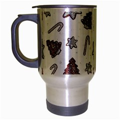 Ginger Cookies Christmas Pattern Travel Mug (silver Gray) by Valentinaart