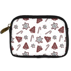 Ginger Cookies Christmas Pattern Digital Camera Cases by Valentinaart