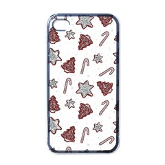 Ginger Cookies Christmas Pattern Apple Iphone 4 Case (black) by Valentinaart