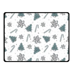 Ginger Cookies Christmas Pattern Double Sided Fleece Blanket (small)  by Valentinaart