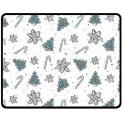 Ginger Cookies Christmas Pattern Double Sided Fleece Blanket (medium)  by Valentinaart