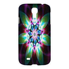Colorful Fractal Flower Star Green Purple Samsung Galaxy S4 I9500/i9505 Hardshell Case by Mariart