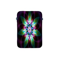 Colorful Fractal Flower Star Green Purple Apple Ipad Mini Protective Soft Cases by Mariart