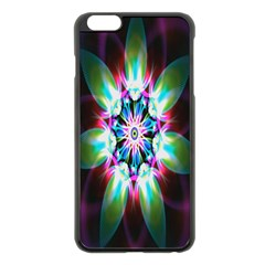 Colorful Fractal Flower Star Green Purple Apple Iphone 6 Plus/6s Plus Black Enamel Case by Mariart
