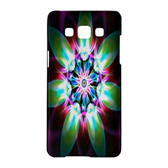 Colorful Fractal Flower Star Green Purple Samsung Galaxy A5 Hardshell Case  by Mariart
