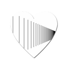 Fence Line Black Heart Magnet by Mariart