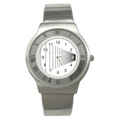 Fence Line Black Stainless Steel Watch