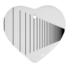 Fence Line Black Heart Ornament (two Sides) by Mariart