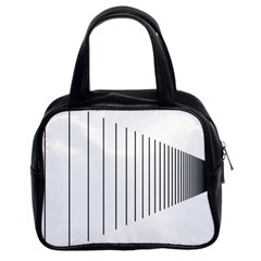Fence Line Black Classic Handbags (2 Sides) by Mariart
