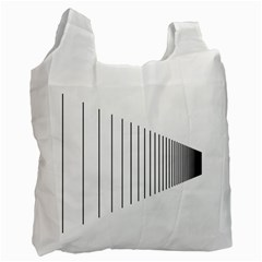 Fence Line Black Recycle Bag (one Side) by Mariart