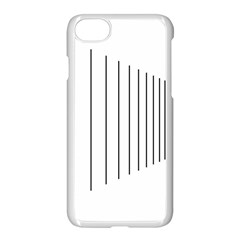 Fence Line Black Apple Iphone 7 Seamless Case (white)
