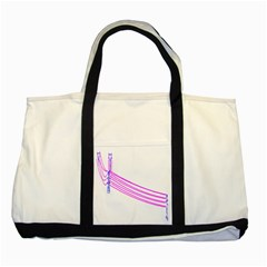 Electricty Power Pole Blue Pink Two Tone Tote Bag