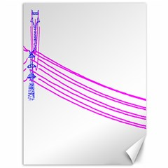 Electricty Power Pole Blue Pink Canvas 36  X 48   by Mariart