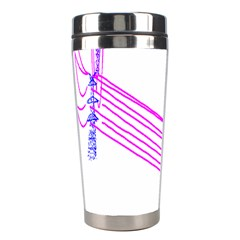 Electricty Power Pole Blue Pink Stainless Steel Travel Tumblers by Mariart