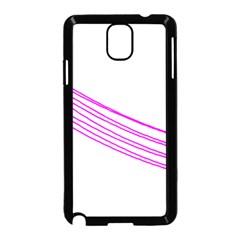 Electricty Power Pole Blue Pink Samsung Galaxy Note 3 Neo Hardshell Case (black) by Mariart