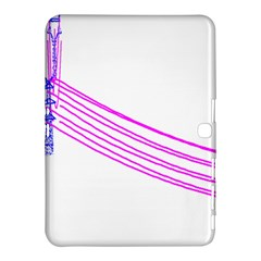 Electricty Power Pole Blue Pink Samsung Galaxy Tab 4 (10 1 ) Hardshell Case  by Mariart