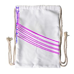 Electricty Power Pole Blue Pink Drawstring Bag (large) by Mariart